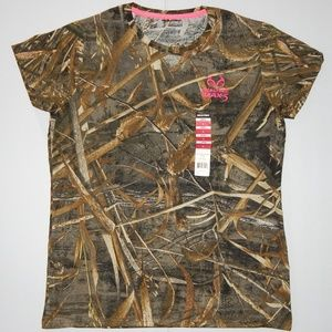 f57179d8 Realtree Tops - REALTREE Max-5 Camouflage T-shirt Green Brown Pink
